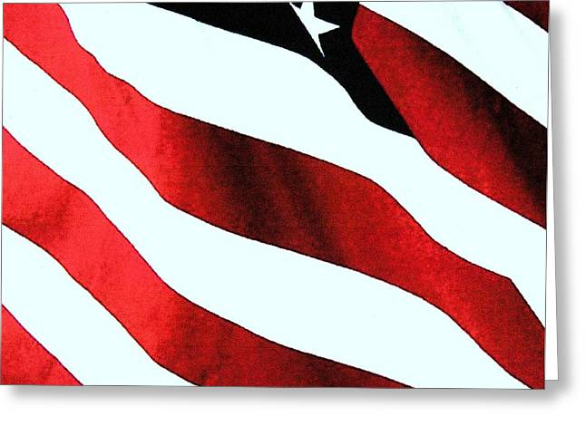 Old Glory Greeting Card by Dan Twyman