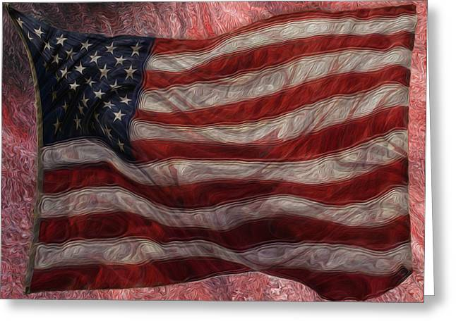 Old Glory Greeting Card by Jack Zulli