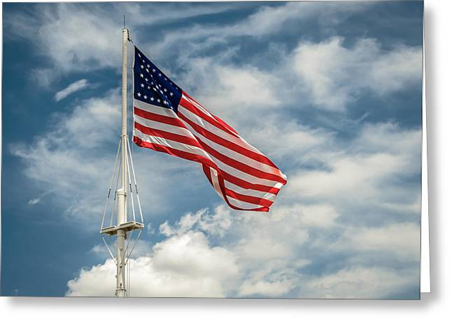 Old Glory Greeting Card by James Barber