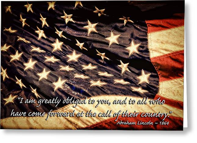 Old Glory Military Tribute Greeting Card