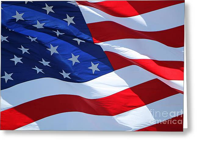 Old Glory Proud Greeting Card