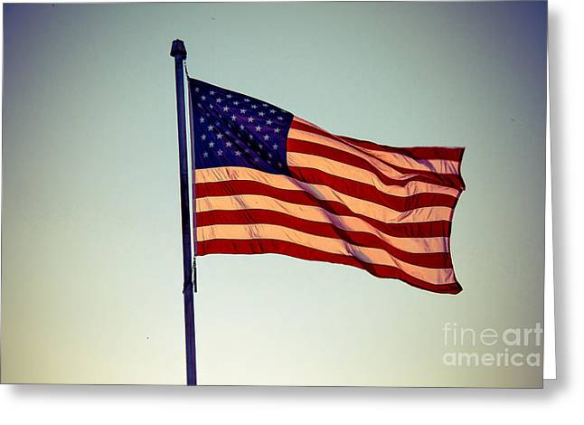 Old Glory Greeting Card by Robert Bales
