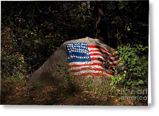 Old Glory Rocks Greeting Card