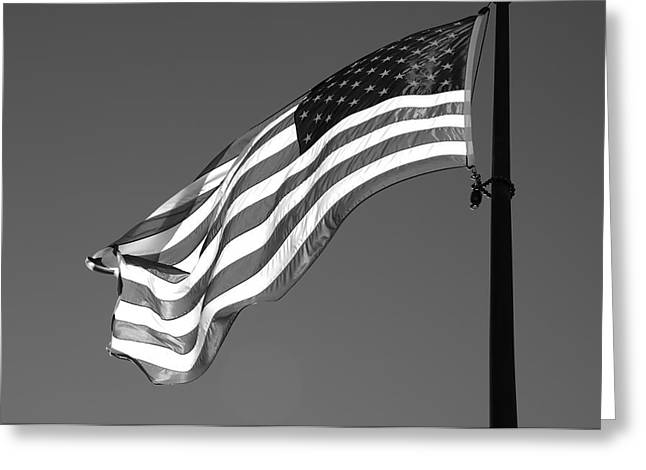 Greeting Card featuring the photograph Old Glory by Ron White