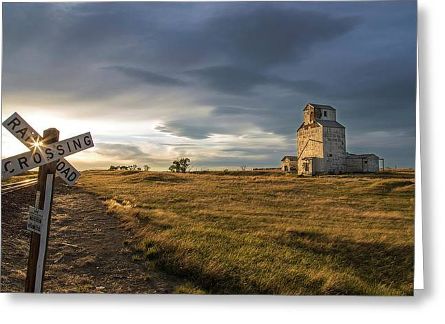 Old Granary In Late Evening Light Greeting Card by Chuck Haney