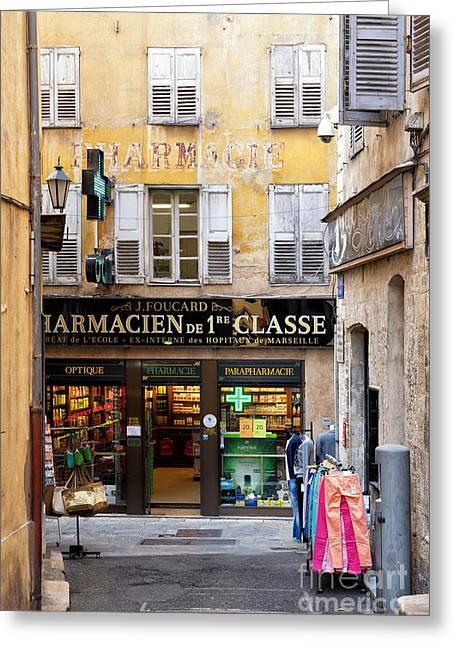 Old Grasse Greeting Card by Juergen Klust