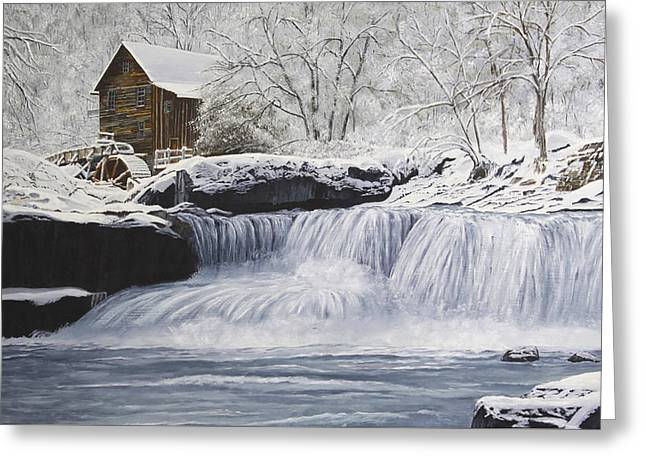 Old Grist Mill Greeting Card by Johanna Lerwick