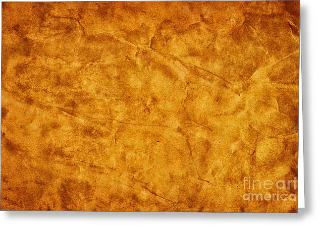 Old Grunge Creased Paper Background Greeting Card by Michal Bednarek