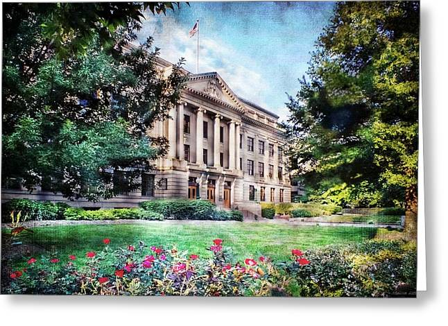Old Guilford County Courthouse Summertime Greeting Card