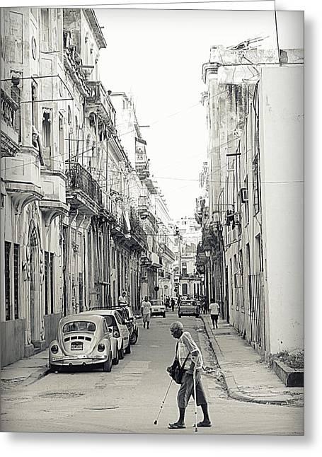 Old Habana Greeting Card by Valentino Visentini