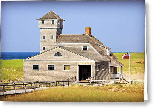 Old Harbor Lifesaving Station--cape Cod Greeting Card