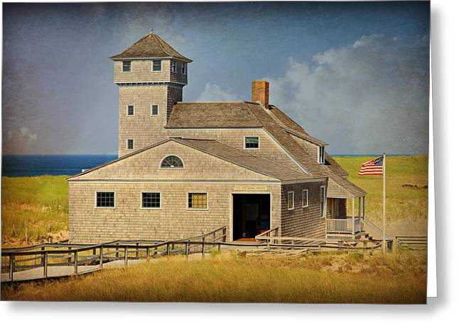 Old Harbor Lifesaving Station On Cape Cod Greeting Card