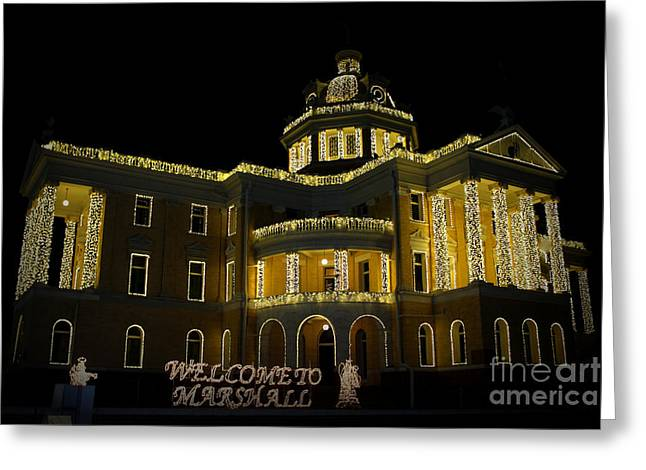 Old Harrison County Courthouse Greeting Card by Kathy  White