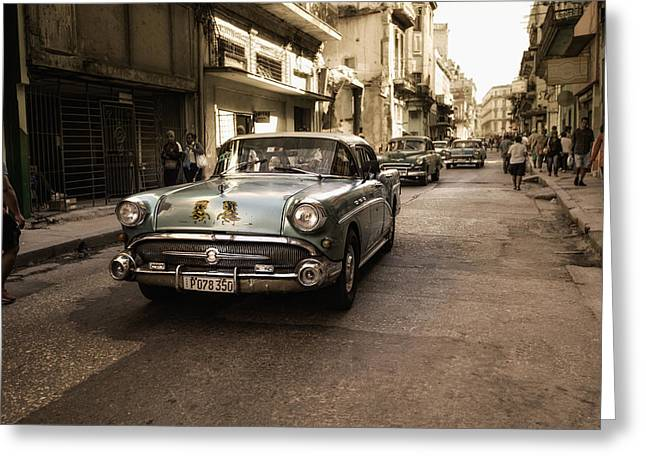 Old  Havana  Street Greeting Card