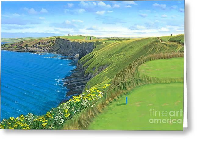 Old Head Golf Club Ireland Greeting Card by Tim Gilliland