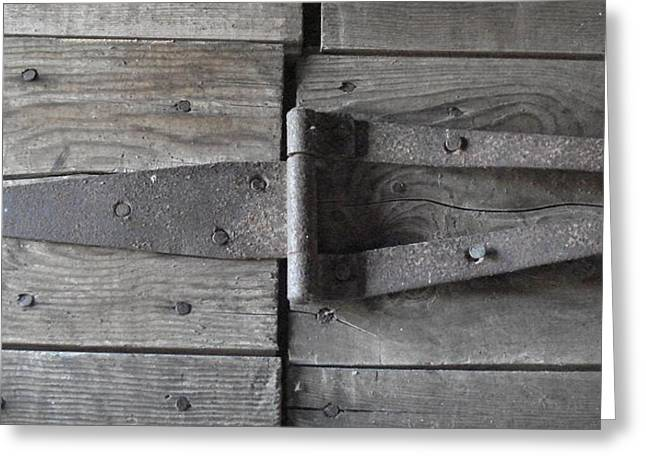 Greeting Card featuring the photograph Old Hinge by J L Zarek