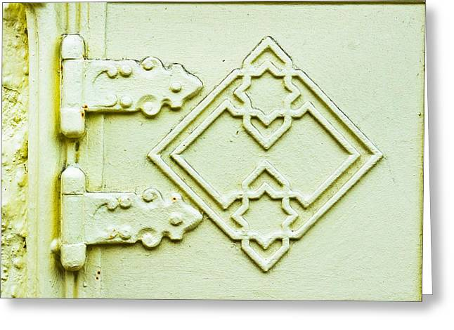 Old Hinges Greeting Card by Tom Gowanlock