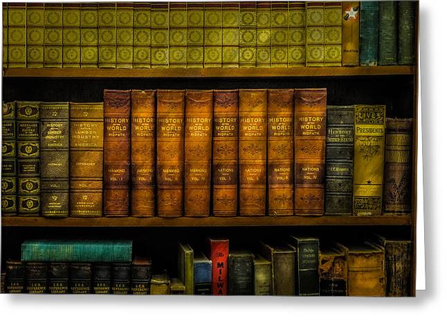 Old History Books Greeting Card by Paul Freidlund