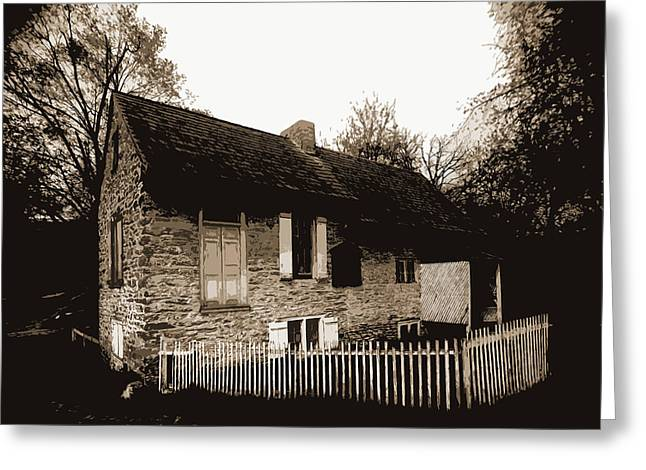 Old Home Of David Rittenhouse, Fairmount Park Greeting Card