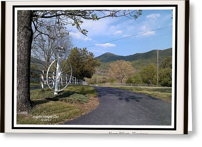 Greeting Card featuring the digital art Old Homeplace In New Elliett Va by Angelia Hodges Clay