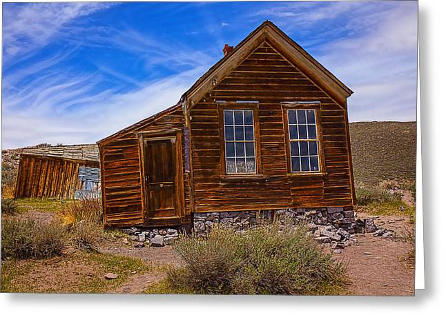 Old House Bodie Greeting Card by Garry Gay
