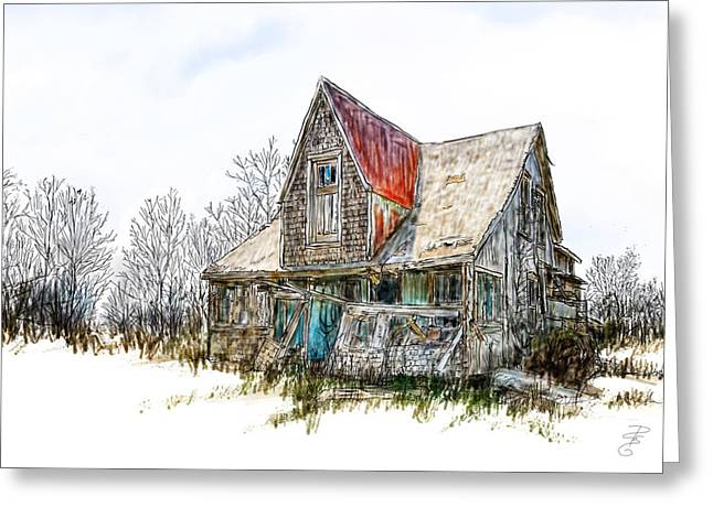 Old House Greeting Card by Debra Baldwin