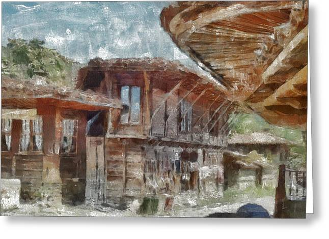 Greeting Card featuring the painting Old House by Georgi Dimitrov
