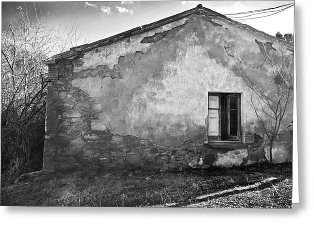 Old House Greeting Card by Gina Dsgn