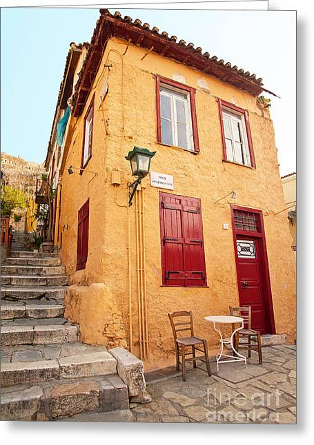 Old House In Athens Greeting Card by Aiolos Greek Collections