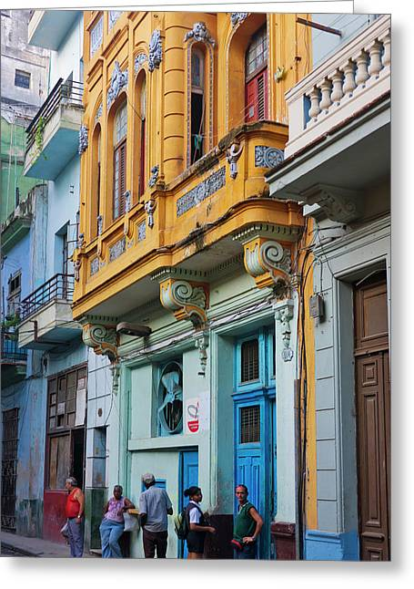 Old House In The Historic Center Greeting Card by Keren Su