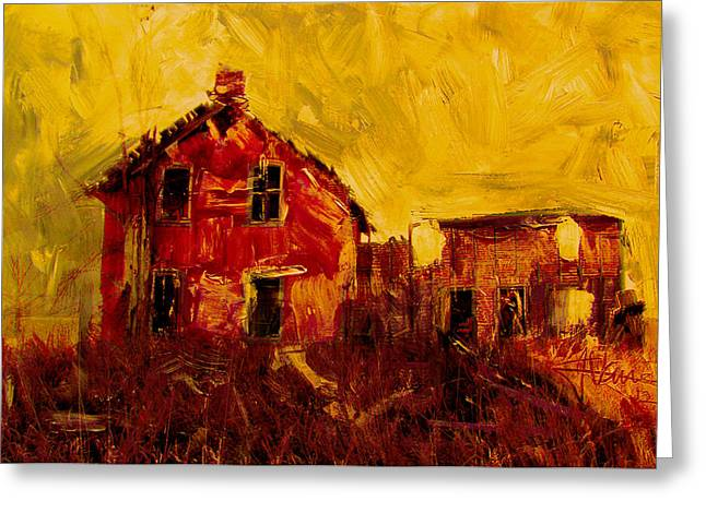 Old House Near Stirling Greeting Card