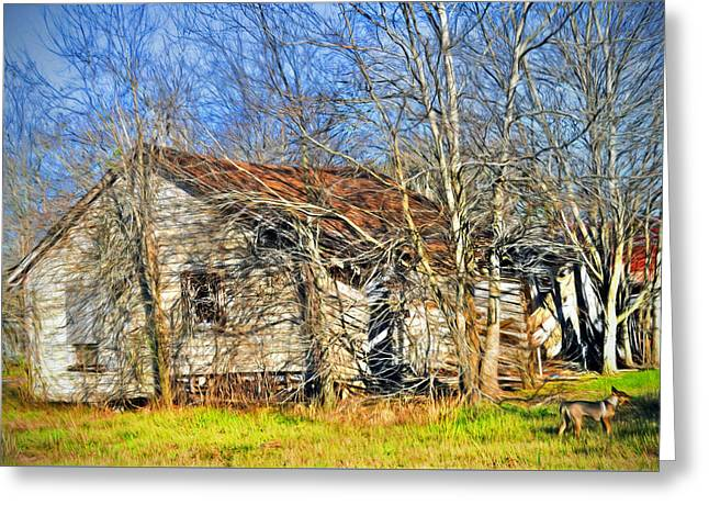 Old House Greeting Card by Savannah Gibbs
