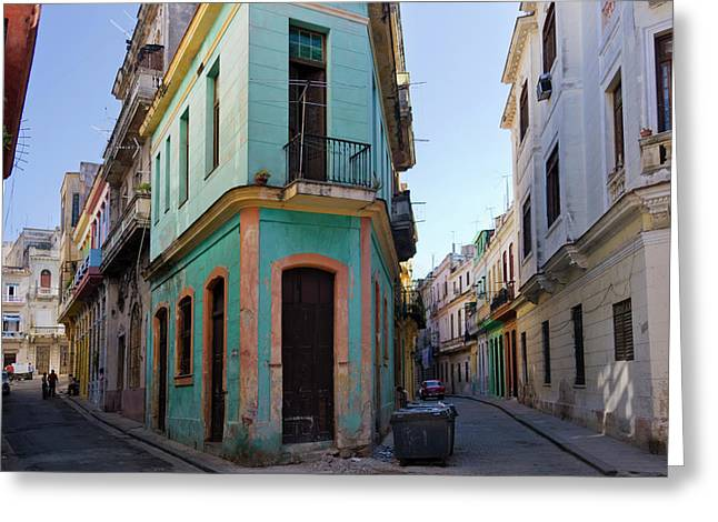 Old Houses In The Historic Center Greeting Card by Keren Su