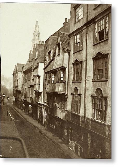 Old Houses In Wych Street. Greeting Card by British Library