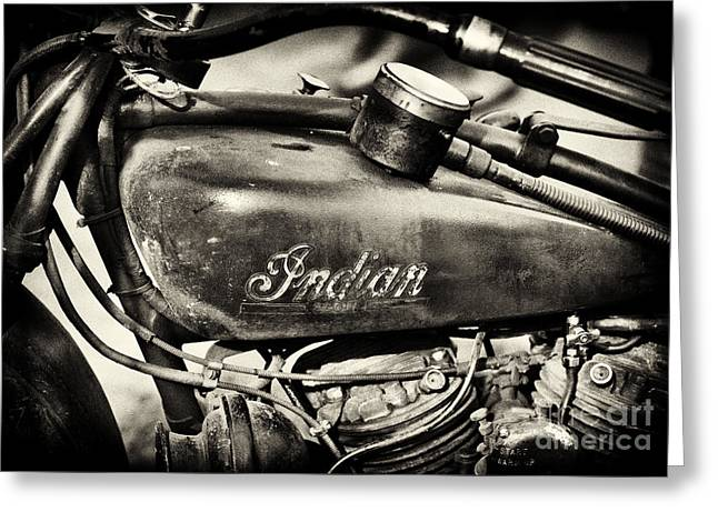 Old Indian Scout Sepia Greeting Card