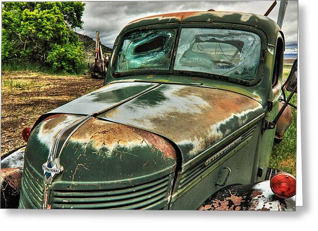 Old International Truck Greeting Card by James Eddy