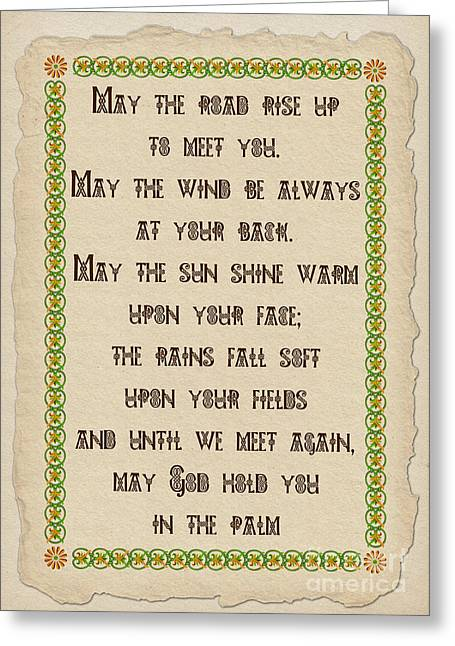 Old Irish Blessing Greeting Card
