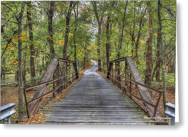Old Iron Bridge At Panther Creek Greeting Card