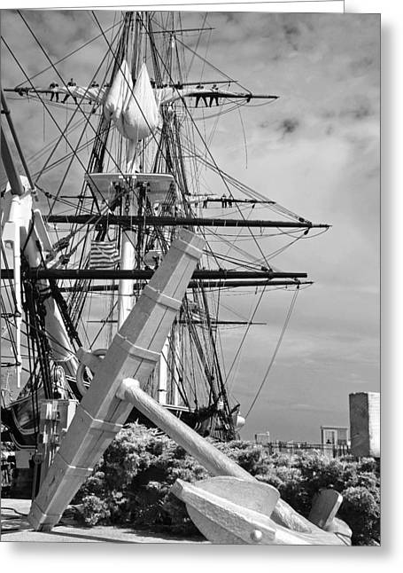 Old Ironsides Greeting Card by John Schneider