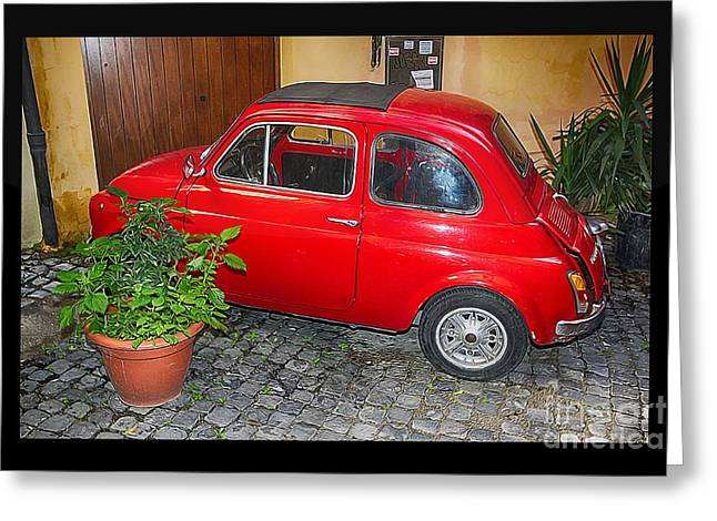 Old Italian Car Fiat 500  Greeting Card by Stefano Senise
