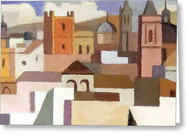 Old Jerusalem Greeting Card