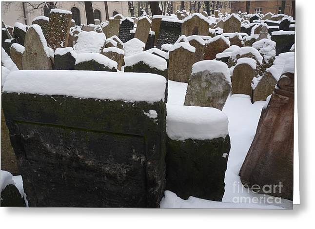 Greeting Card featuring the photograph Old Jewish Cemetery by Deborah Smolinske