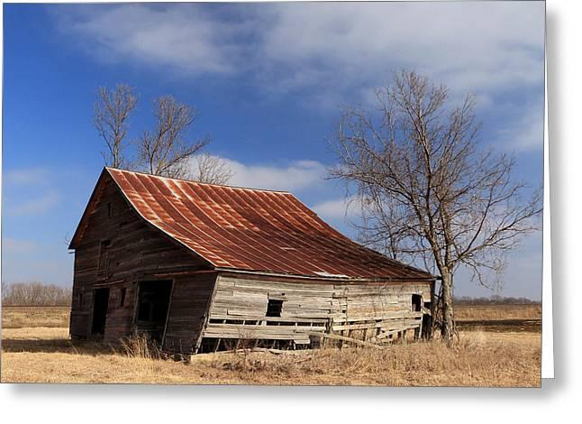 Old Kansas Barn Greeting Card