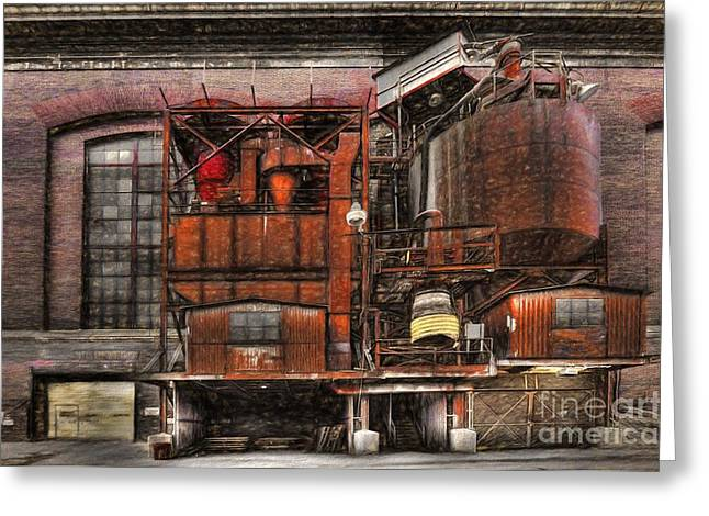 Old Kansas City Factory Building  Greeting Card by Liane Wright