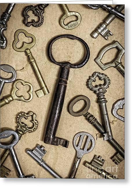 Old Keys Greeting Card by Carlos Caetano