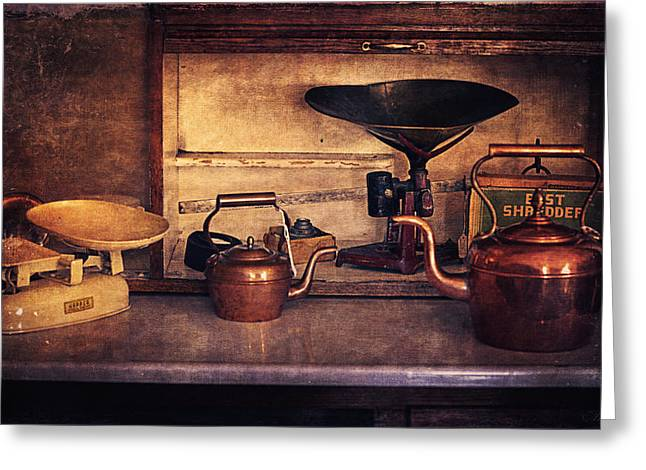 Old Kitchen Utensils Greeting Card by Maria Angelica Maira