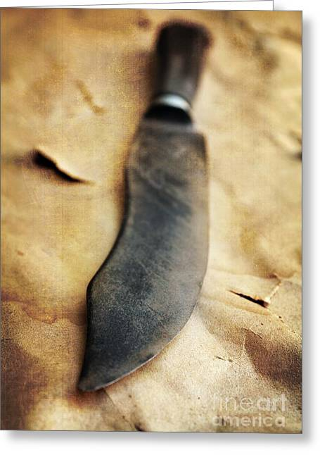 Old Knife Greeting Card by Carlos Caetano