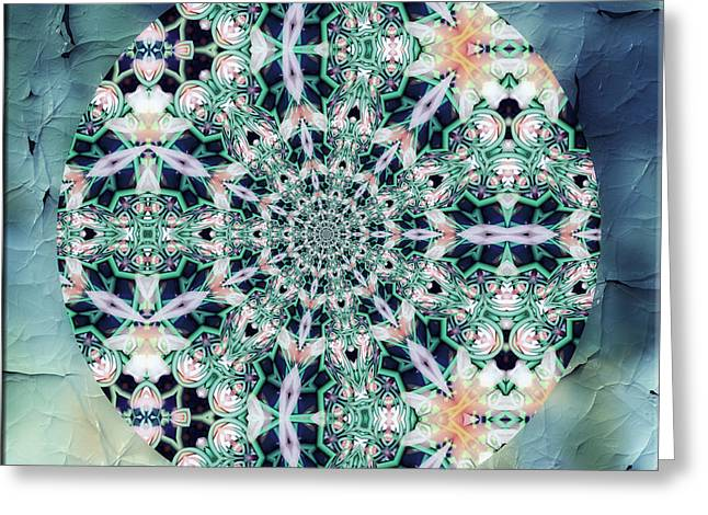 Old Lace Mandala Greeting Card by Georgiana Romanovna