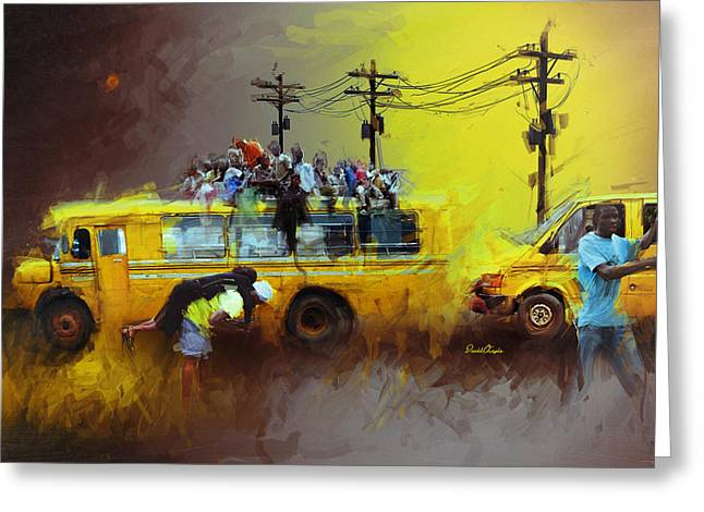 Old Lagos Greeting Card by David Osagie