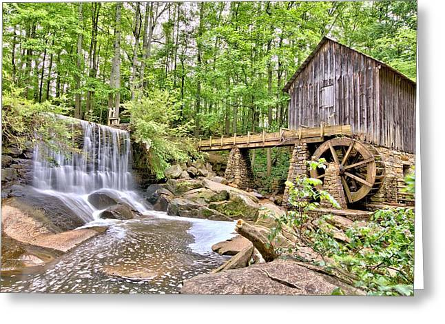 Old Lefler Grist Mill Greeting Card by Gordon Elwell